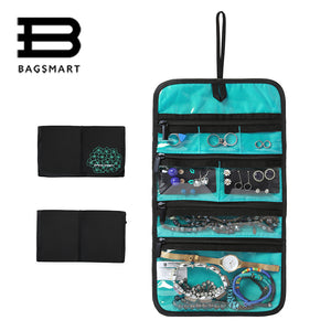 BAGSMART Rolling Jewelry Bag and Organizer