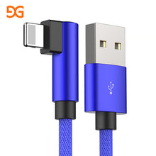 GUSGU 90 Degree Fast Charging USB Cable For iPhone X 6 6s 7 8 iPhone 5 SE iPad