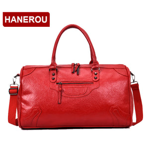 HANEROU Large PU and Leather Travel Bag
