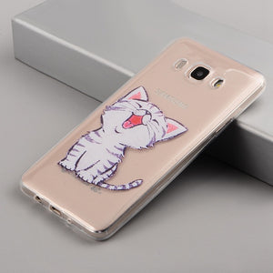 EKDME Cat Pattern Phone Case For Samsung Galaxy A and J Series