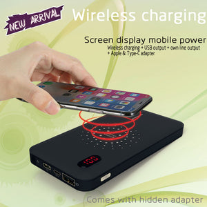 Cyboris 10000mAh Wireless Charger with Built in Micro Cable For Samsung and iPhone
