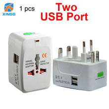 XINGG 2 USB Charging Universal Travel Adapter EU UK US AU