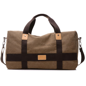 Wear-Resistant Canvas Carry-On Travel Bag