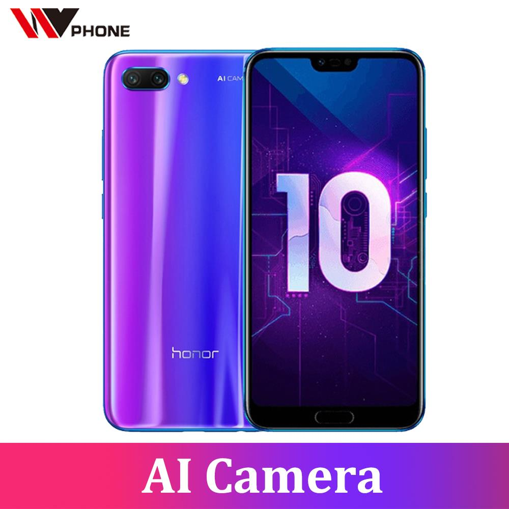 Honor 10 19:9 Full Screen 5.84 inch AI Camera 24.0MP  Mobile Phone Octa Core Fingerprint ID NFC android 8.1