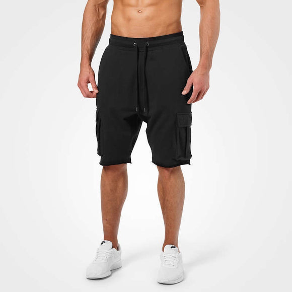 BRONX CARGO SHORTS (Washed Black) - ملابس رياضية
