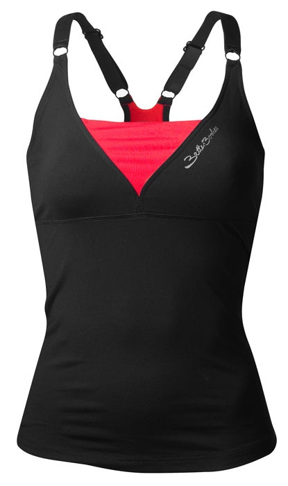 DEEP V SINGLET (Black/Red) - ملابس رياضية