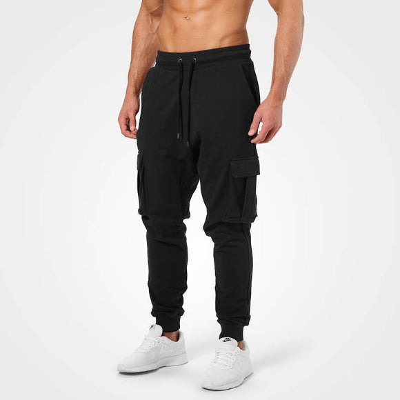 BRONX CARGO SWEATPANTS (Washed Black) - ملابس رياضية