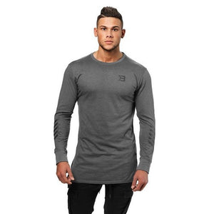 BRONX LONG SLEEVE (Dark Grey Melange) - ملابس رياضية