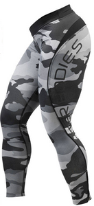 CAMO LONG TIGHTS (Grey Camo Print) - ملابس رياضية