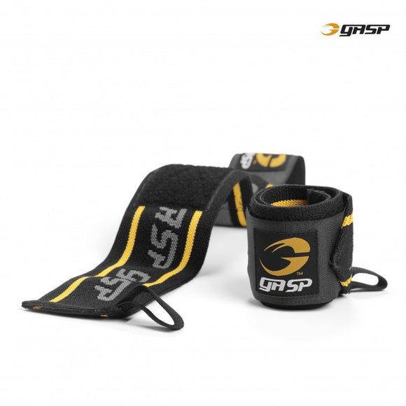 GASP WRIST WRAPS (Black/Yellow) - ملحقات رياضية
