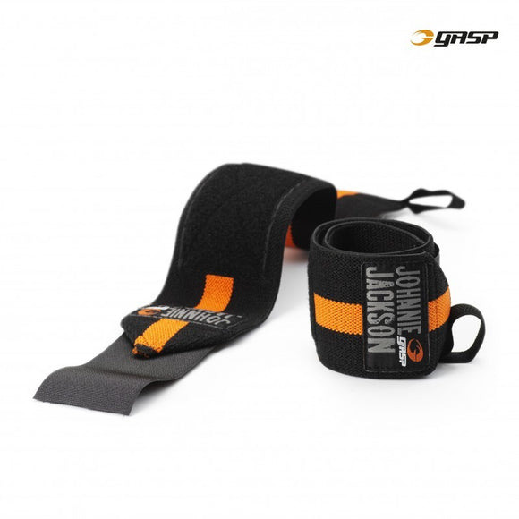 GASP POWER WRIST WRAPS (Black/Flame) - ملحقات رياضية