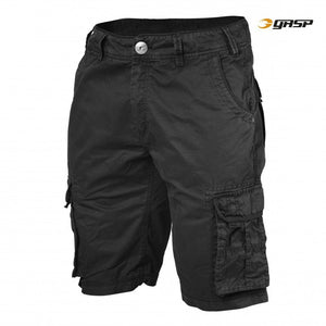 CARGO POCKET SHORTS (Wash Black) - ملابس رياضية