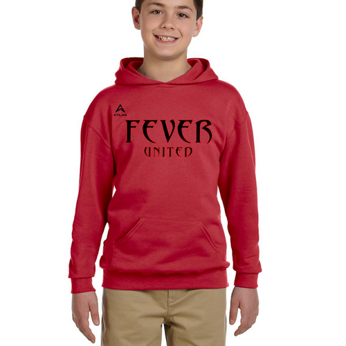 Fever United Fleece Pullover w/Hood (Red)