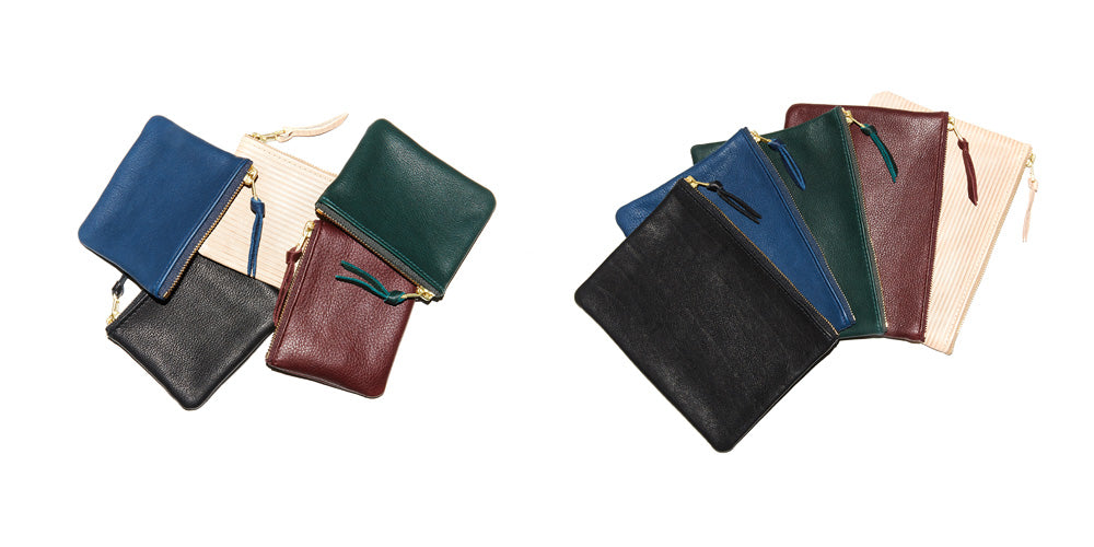 THIS IS EARLY, MINI POUCH, BIG POUCH , MADE IN GERMANY, VEGETABLE TANNED LEATHER