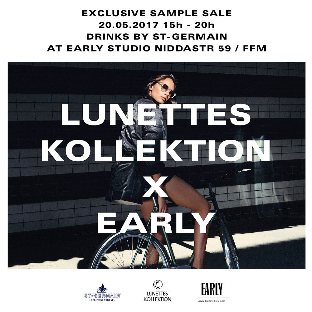 Early x Lunettes Kollektion Sample Sale Frankfurt
