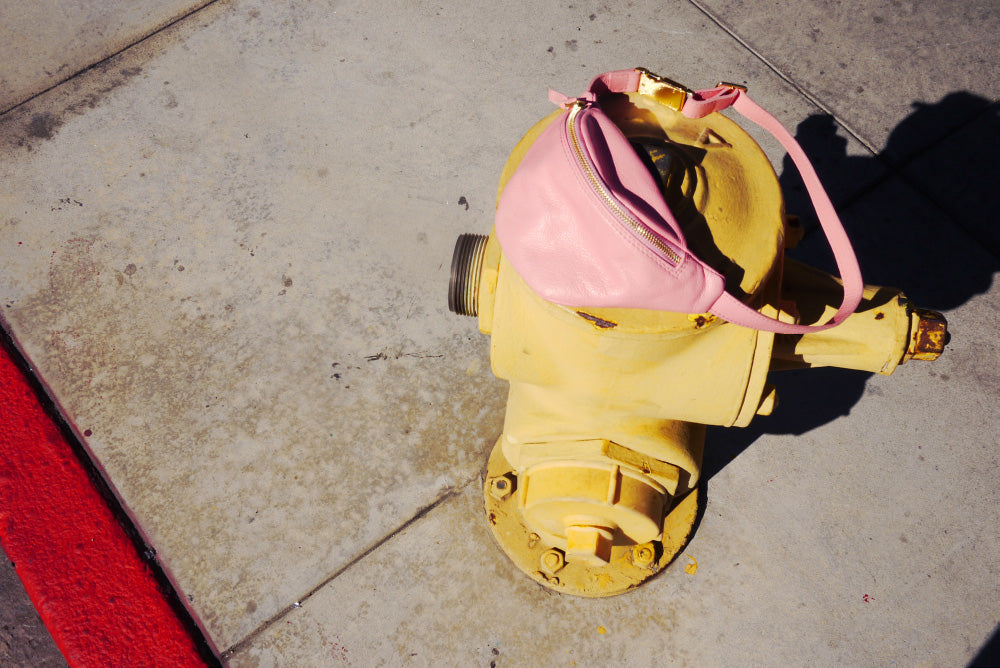 LOTTERMANN & FUENTES IN LA // EARLY MINI HIPBAG ROSA