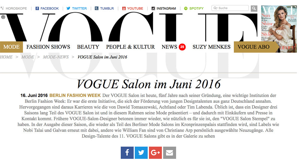Vogue germany, this is early, EARLY, Vogue Salon, Berlin Fashion Week, Ethical Fashion Brand, sustainable leathergoods