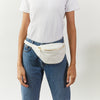 classic hipbag, white, eco olive tanned leather, made in germany, hip bag, fanny pack, bum bag