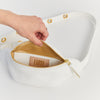 EARLY, SLIM HIPBAG, WHITE, BUMBAG, FANNYPACK, ECO LEATHER, MADE IN GERMANY, SUSTAINABLE DESIGN, FAIR FASHION