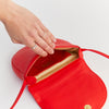 EARLY, LITTLE ONE, SHOULDER BAG, RED, MADE IN GERMANY, OLIVE TANNED LEATHER, RED, SUSTAINABLE DESIGN, FAIR FASHION, ECO LEATHER