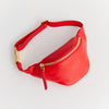 EARLY MINI HIPBAG, KIDS, FAIR FASHION, MADE IN GERMANY, CONSCIOUS DESIGN, ECO LEATHER, OLIVE TANNED, RED, SUSTAINABLE DESIGN