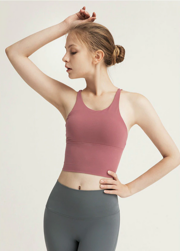 Goddess Crop Top - Dusty Pink
