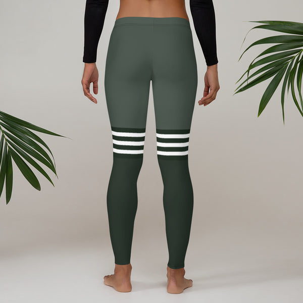 Flex Printed Leggings - Olive