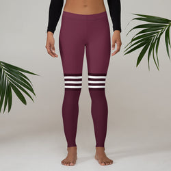 Flex printed Leggings - Wine