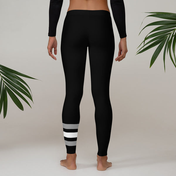 Elevate Printed Leggings - Black