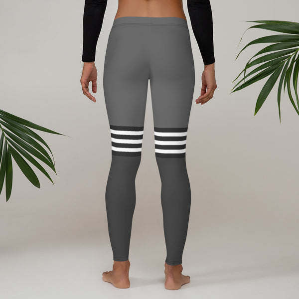 Flex Printed Leggings - Grey