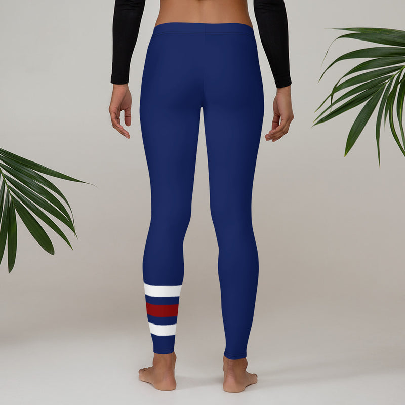 Elevate Printed Leggings - Navy