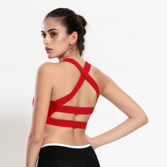 Goddess Sports Bra - Red