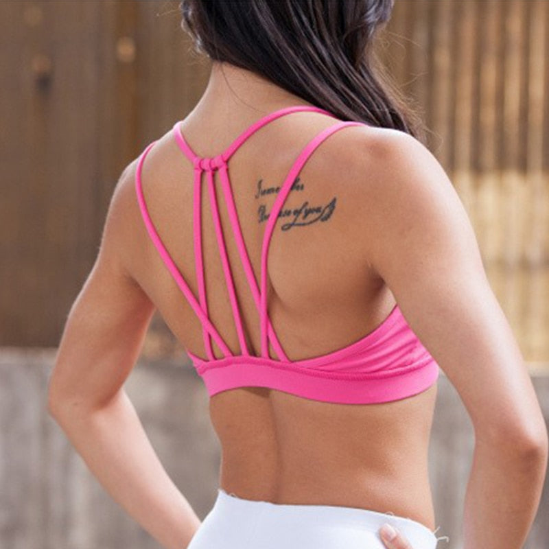 Love Tie Sports Bra - Pink