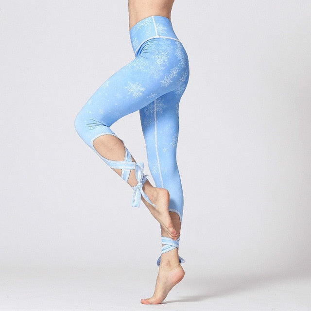 Snowflake Tie Up Leggings