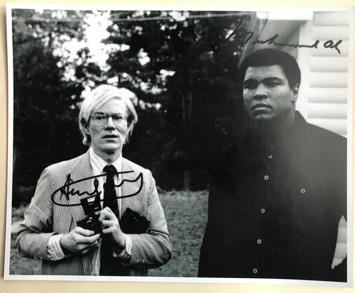 Andy WARHOL (1928-1987) & Mohammed ALI (1942-2016) - Photo dédicacée