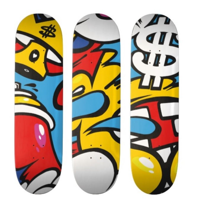 PIOTRE (1988) - Graffiti rules 2019 - Edition sur set de 3 planches de skateboard