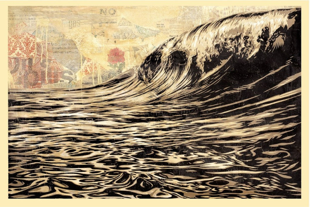 OBEY GIANT dit, Shepard FAIREY (1970) Dark wave, Sérigraphie