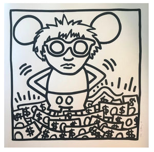 KEITH HARING (1958 1990) - Sérigraphie Mickey dollar, 1989.