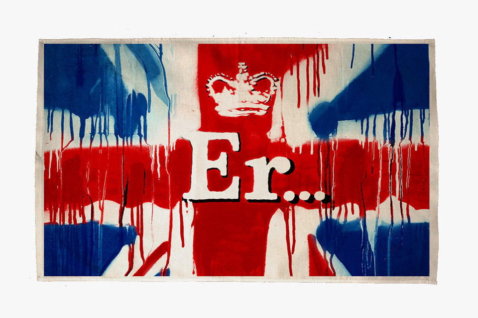 BANKSY  (1974)  Er… (Union Jack Tea Towel) - 2012