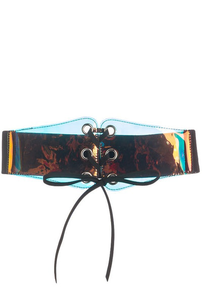 Holographic Style Corset Belt