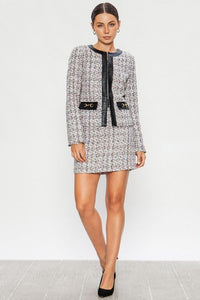 Tweed Style Mini Skirt