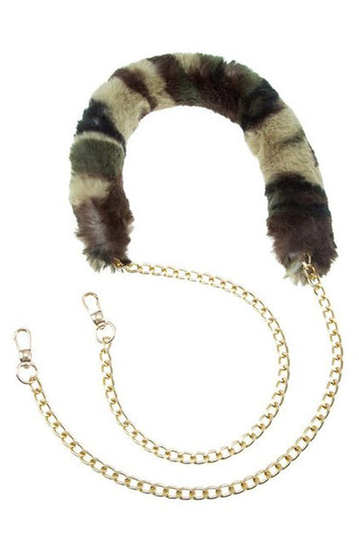 Multi Color Furry bag Chain