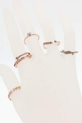 Rose Gold Fashion Ring Set