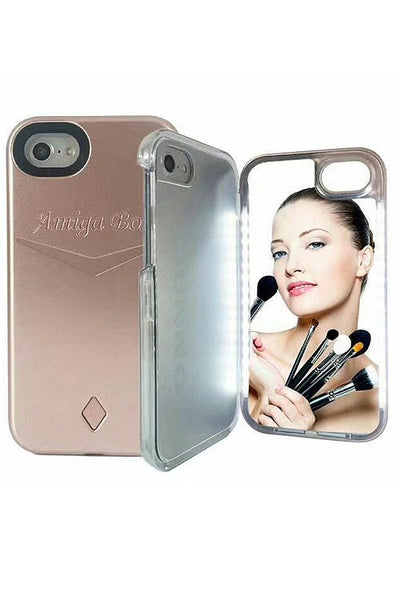 Iphone X LED Make Up Mirror Case - Nofashiondeadlines