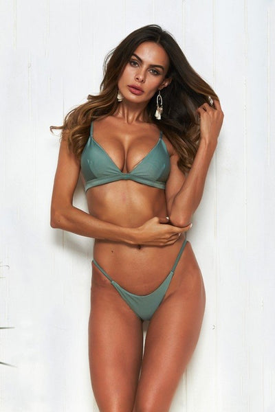 Teal Triangle Bikini Swimsuit