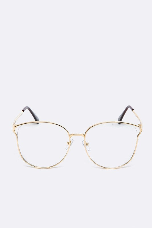 Clear Lens Thin Frame Fashion Glasses