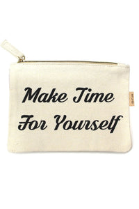 Make Time for Yourself Makeup Bag