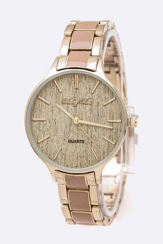 Metallic Dial Fashion Bracelet Watch