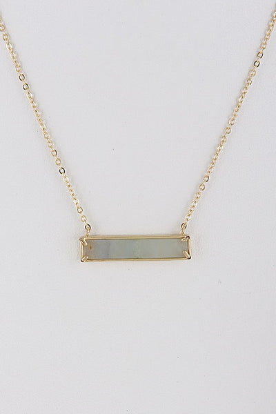 Mint Rectangle Opulent Stone Necklace
