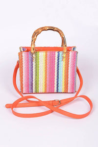 Striped Multi Color Purse